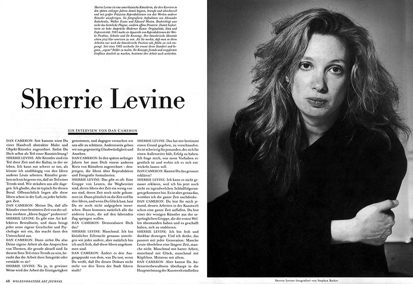 Sherrie Levine Appropriation
